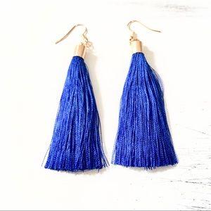Jewelry - Silk tassel earrings